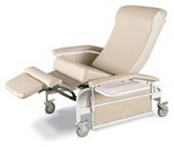 Drop-Arm Care Cliner X-Large w/Steel Casters