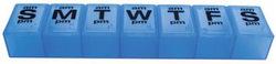 Pill Organizer XXL Translucent Blue