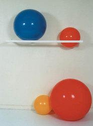 Wall Mount Rack 3 Ball PVC 64 L x 17 W x 3 H