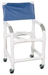 Shower Chair PVC w/Soft Seat & Folding Footrest