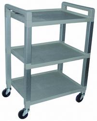 Polyurethane Utility Cart 3-Shelf W/Drawer