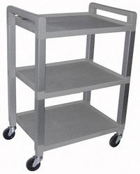 Utility Poly Cart w/3 Shelves