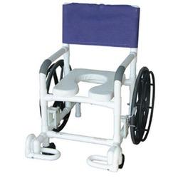 Shower Chair PVC Multi-Purpose w/Wheels