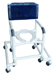 Shower Chair PVC w/Outrigger & Swivel Movement