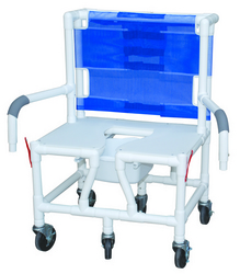 Category: Dropship Medical, SKU #7042, Title: Shower/Commode Chair Baria PVC w/ Seat & Dual Drop-Arms