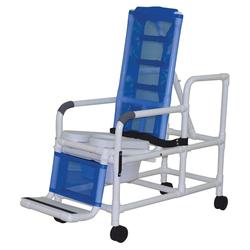 Shower/Commode Chair PVC Tilt-N-Space