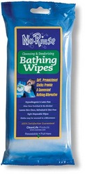 No Rinse Bathing Wipes Retail Package Pk/8