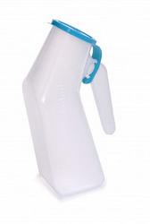Male Urinal Translucent Reusable Autoclavable Blue Cap