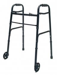 Walker Adult w/5 Wheels Folding Black Case of 2