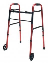 Walker Adult w/5 Wheels Red