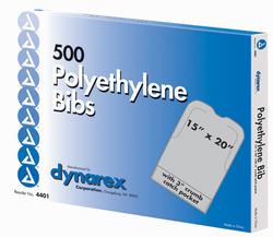Disposable Polyethylene Bibs W/Crumb Pocket 16 x24 Bx/500