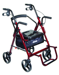 Duet Rollator/Transport Chair Black