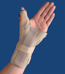 Carpal Tunnel Brace w/Thumb Spica Right Beige XS/S