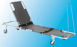 Stretcher w/Adj Back 4-Wheeled