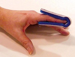 Fold Over Finger Splint Small Bulk PK/6 Non-Retail