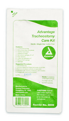 Advantage Trach Care Kit One Compartment Tray Case/20