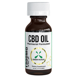 Category: Dropship Cbd Products, SKU #9040G, Title: CBD Tincture 3500mg  Size 60ml by Green Roads