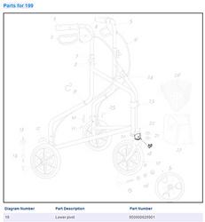 Lower Pivot for 3 Wheeled Rollator