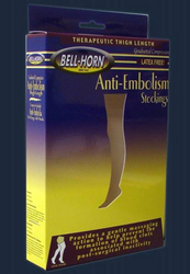 Anti-Em C/T Thigh Stocking Beige Medium Short 18 mmHg
