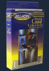 Men's Casual Socks Black 20-30 mmHg Medium