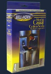 Men's Casual Socks Black 20-30 mmHg Small