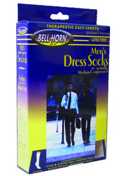 Men's Dress Socks Navy 20-30 mmHg Large