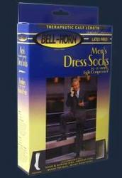 Men's Dress Socks White 15-20 mmHg Large