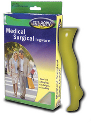 Closed Toe Thigh Stockings Beige Large 30-40 mmHg