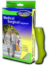 Closed Toe Knee Stockings Beige Large 20-30 mmHg