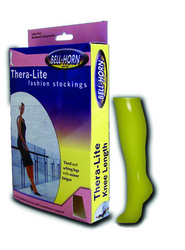 Thera Lite C/T Knee Stockings Beige Large 15-20 mmHg