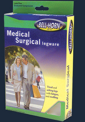 Clsd Toe Thigh Stckngs Beige w/Silicone Band Md 20-30mmHg