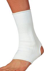 Elastic Ankle Support White Medium 8è - 10