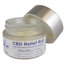 Category: Dropship Cbd Products, SKU #BJ133120, Title: CBD Relief Rub - Blue Jay 60mg per container  1oz.