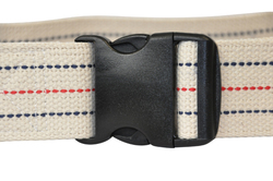 Gait Belt w/ Safety Release 2 x60 Striped Blue Jay Brand