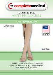 Anti-Embolism Stockings Medium 15-20mmHg Below Knee ClsdToe