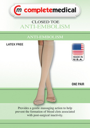 Anti-Embolism Stockings Small 15-20mmHg Below Knee ClsdToe