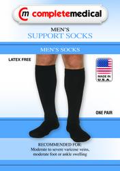 Men's Mild Support Socks 10-15mmHg Black MD/LG