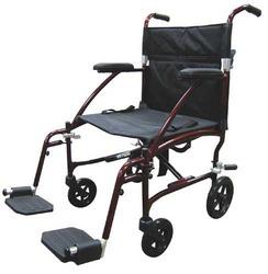 Fly-Lite Transport Chair Burgundy 19