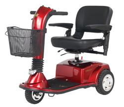 CompanionTM II 3-Wheel Elec Scooter Vermillion Red Full-Sz