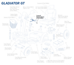 Forward/Reverse Lever only for Gladiator GT Wheelchair