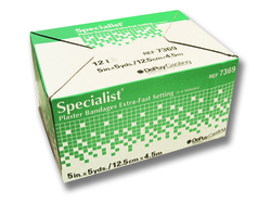 Specialist Plaster Bandages Fast Setting 3 x3yds Bx/12
