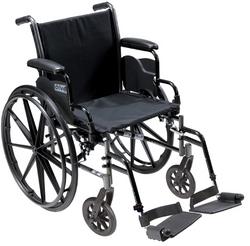 K3 Wheelchair Ltwt 20 w/DDA & ELR's Cruiser III