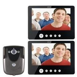 Category: Dropship Security & Protection, SKU #1015915, Title: SY905FC12 Video Door Phone Doorbell Intercom Kit 900TVL IR Night Vision 1-Camera 9 Inch TFT LCD 2-Monitor