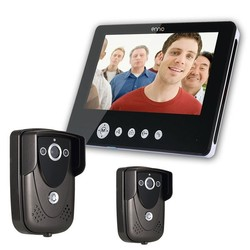 Category: Dropship Security & Protection, SKU #1015918, Title: SY905FC21 Video Door Phone Doorbell Intercom Kit 900TVL IR Night Vision 2-Camera 9 Inch TFT LCD 1-Monitor