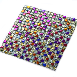 Category: Dropship Hardware & Accessories, SKU #1232401, Title: 11 Pieces Colorful Glass Mosaic Wall Tiles Sheets For Living-room Bathroom Pub