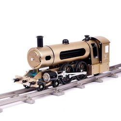 Category: Dropship School & Office Supplies, SKU #1276221, Title: Teching Steam Train Model With Pathway Full Aluminum Alloy Model Gift Collection Toys