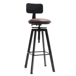 Category: Dropship Hardware & Accessories, SKU #1282817, Title: Adjustable Retro Bar Stool Metal Leather Craft Furniture Rotate Cafe Counter Chair Bar Decorations