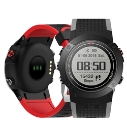 Category: Dropship Smart Devices, SKU #1284270, Title: Bakeey DM18 1.28inch MT2523 IP68 GPS Multi Sport Mode Heart Rate Monitor Fitness Tracker Smart Watch
