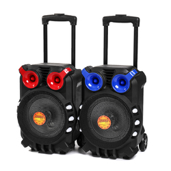 Category: Dropship Media Players, SKU #1301019, Title: Trolley bluetooth Audio Speaker Light Singing TFT Display USB TF BT Karaoke KTV System