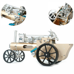 Category: Dropship School & Office Supplies, SKU #1334707, Title: Teching DM34 Steam Car Model Stirling Engine Full Metal Model Toy Collection Gift Decor